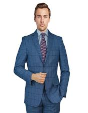 Blue Birdseye Windowpane