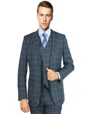 Charcoal Burgundy Windowpane