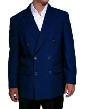Mens Lucci Suit Dark Navy Slim Fit Blazer Double Blazer