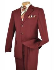 Mens Burgundy Lucci Suit