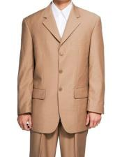 Mens Lucci Suit Khaki Blazer Regular Fit