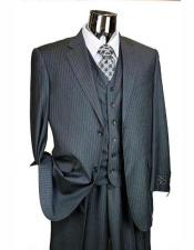 Grey Athletic Cut Classic Suits