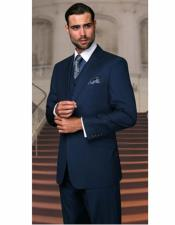 Bright Blue Athletic Cut Classic Suits