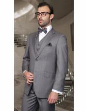 Gray Athletic Cut Classic Suits