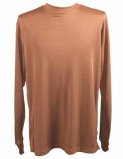 Neck Shirts For Men Brown