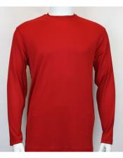 Long Sleeve Mock Neck Shirts For Mens