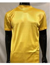 Neck Shirts For Men Gold