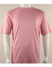 Neck Shirts For Men Pink