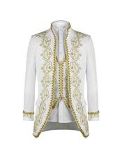 Mens Suit Peak Lapel White