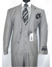 Adams Mens Single Breasted Gray Notch Lapel Two Button
