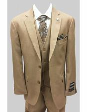 Adams Mens Tan Single Breasted Two Button Suit