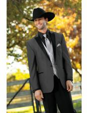 Wedding Cowboy Suit Jacket perfect for wedding Charcoal