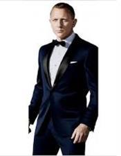 James Bond Tuxedo Navy Blue