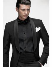 Black Suit With Black Shirt & Bowtie Included Package Combo ~ Combination