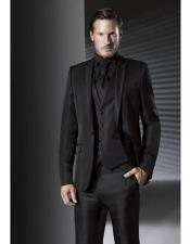 Suit With Black Shirt & Bowtie Included Package Black