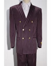 ~ White Fashion  Striped ~ Pinstripe Double Breasted Suits