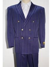 ~ White Mens Pinstripe Mens Double Breasted Suits Jacket Blazer
