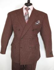 Breasted Suit Burgundy ~