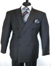 Breasted Suit Charcoal ~