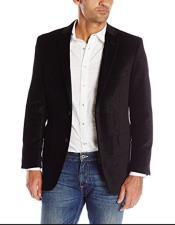 Mens Paisley Black Velvet Fabric Patterned