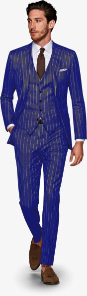 Navy blue and Gold Pinstripe Gatsby Vintage Suit