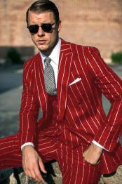 Red White Pinstripe Six