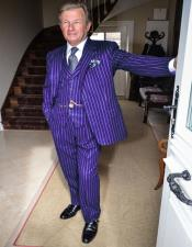 1920s 1940s Mens Gatsby Mobster Vintage Suit For Sale Dark Purple