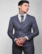 Breasted Slim Fit Wool Suit 4 Buttons Style 2020 New Formal Style