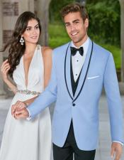 Blue Tuxedo ~ Baby Blue Light Blue Tux Jacket and Vest