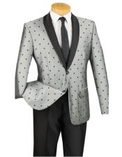this in Polk Dot ~ Polka Dot Tuxedo Dinner Jacket Blazer Sport Coat