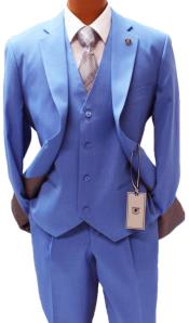 Blue Vested Classic Fit