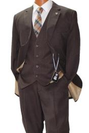 Adams Brown Vested Classic Fit Suit