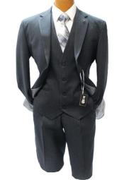 Adams Charcoal Vested Classic Fit Suit