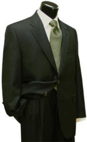Suit Separates Wool Fabric Dark Olive Green By Alberto Nardoni Brand