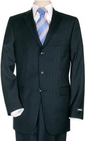 Suit Separates Wool Fabric Dark Navy Blue Pinstripe By Alberto Nardoni