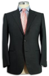 Suit Separates Wool Fabric Darkest Charcoal Gray By Alberto Nardoni Brand