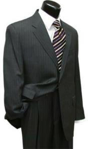 Suit Separates Wool Fabric Charcoal Gray Stripe Suit By Alberto Nardoni