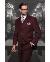 Separates Wool Fabric Burgundy