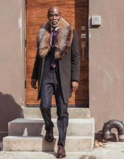 Carcoat ~ Car Coat With Fur Collar By Alberto Nardoni In Black ~ Camel ~ Burgundy ~