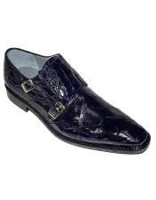 Double Monk Strap Alligator