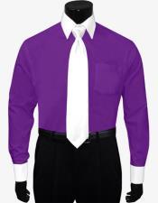 Dress Shirt White Tie