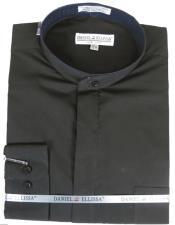 Ellissa Mens French Cuff Shirt Black