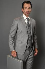 Patterned 3-Piece Vested Tapered