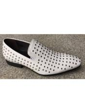 Mens Premium Leather Dress Shoe In White