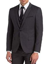 Grey Three Pieces Suit