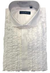 Tuxedo Shirt in White