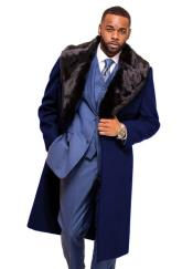 Navy Blue Overcoat ~ Long Mens Dress Topcoat -  Winter