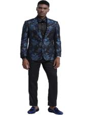 and Black Floral Pattern Fashion Blazer Perfect for Prom