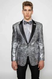 Snake Print Pattern Cheap Priced Mens Alligator Jacket Print Designer Fashion Dress Casual Blazer On Sale Silver