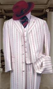 Red Pinstripe Fashion Style
